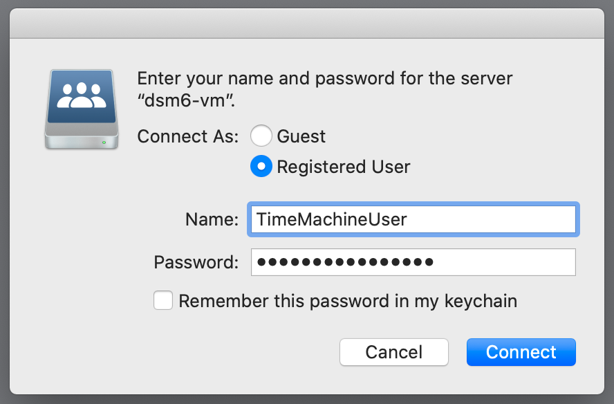 finder, authenticate to server, macos 10.15 catalina
