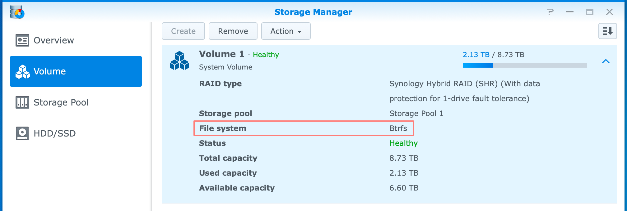 synology, storage manager, btrfs, dsm6