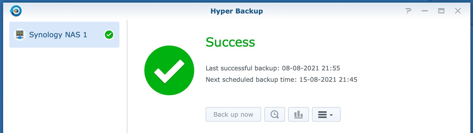 synology, hyper backup, dsm6