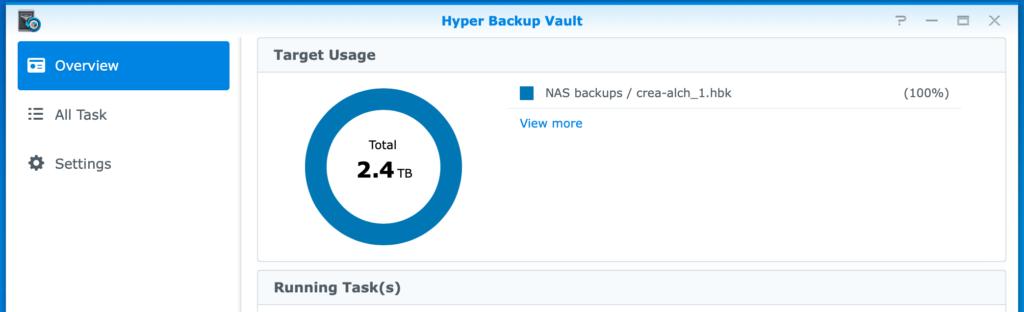 synology, hyper backup vault, dsm6
