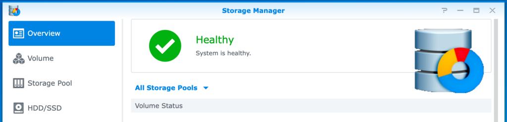 synology, storage manager, dsm6