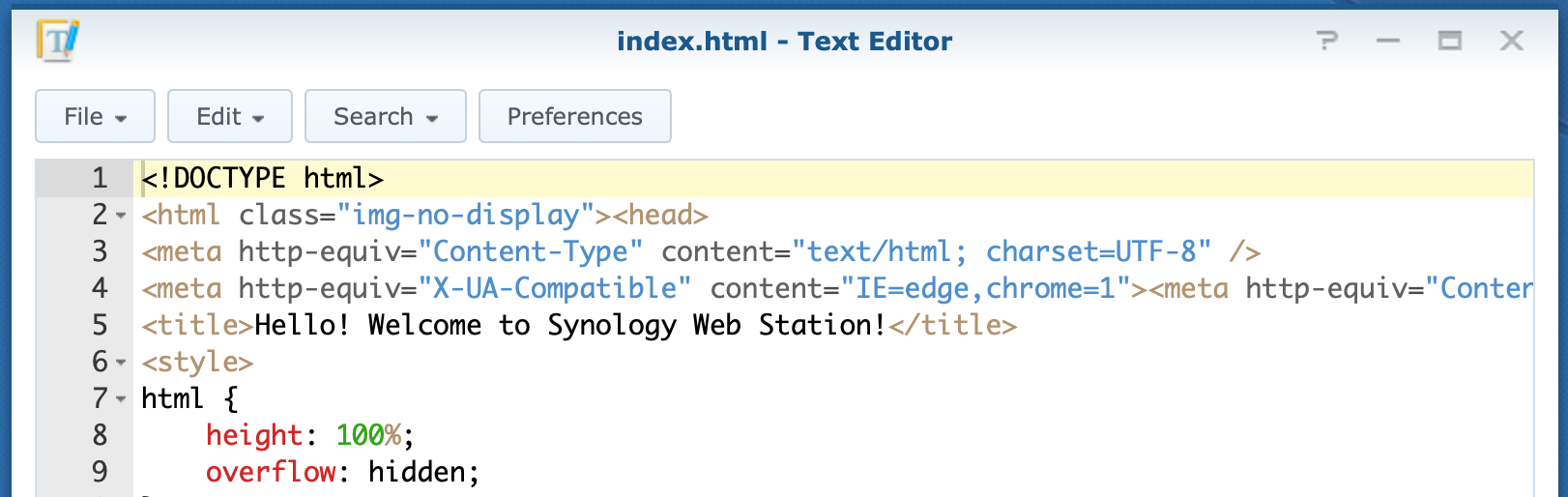synology, text editor, dsm6