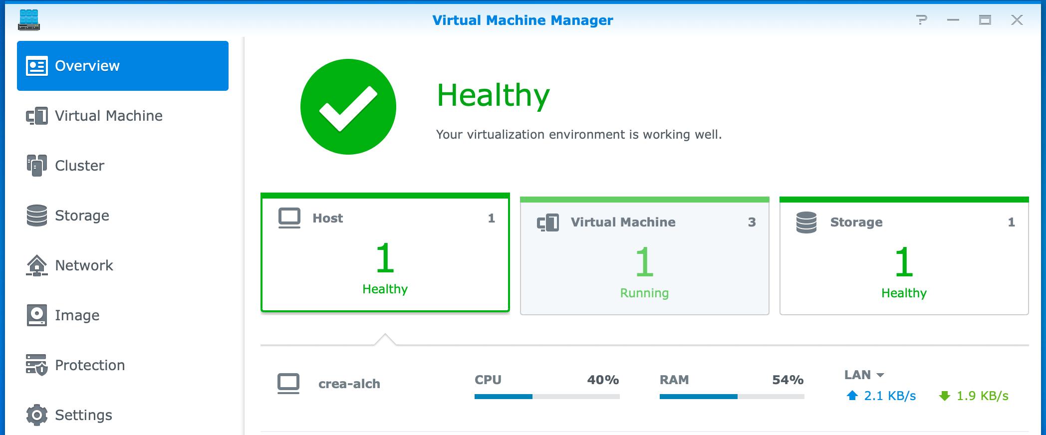 synology, virtual machine manager, dsm6