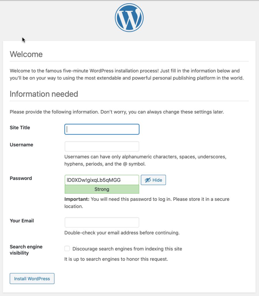 synology, wordpress, installer, 5 minutes, dsm6