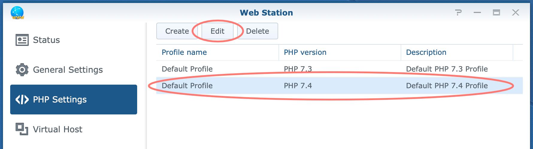 synology, web station, php settings, dsm6