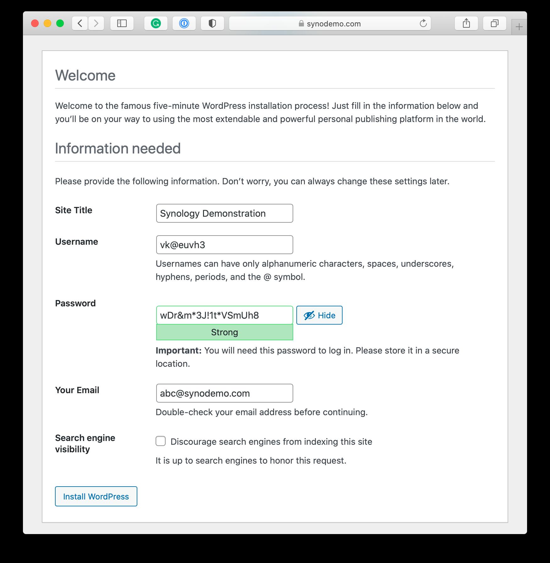 wordpress, installer, 5 minutes