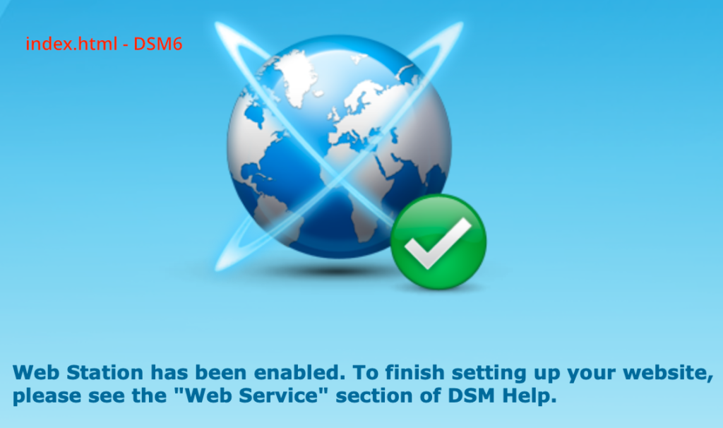 synology, web station, index.html, dsm6
