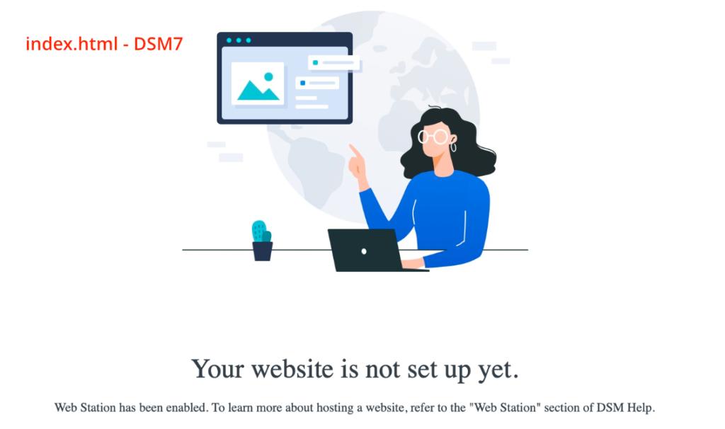 synology, web station, index.html, dsm7
